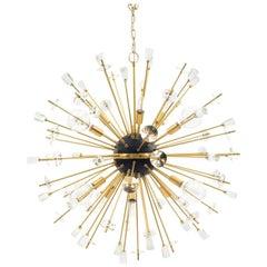 Contemporary Gilt Metal and Glass Sputnik Chandeliers