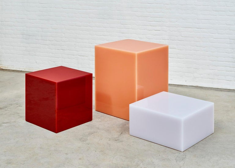 Dutch Contemporary Glossy Resin Side Table, Candy Cube by Sabine Marcelis, 60 cm3 For Sale