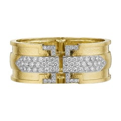 Zeitgenössisches Gold-Armband mit Diamanten von David Webb