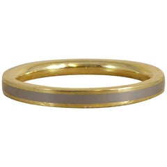 Contemporary Gold and Titanium Ring, Fashion Designer Design