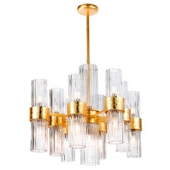 Contemporary Gold Chandelier