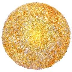 Contemporary Gold Polycarbonate Circular Italian Jacopo Foggini Wall Lamp