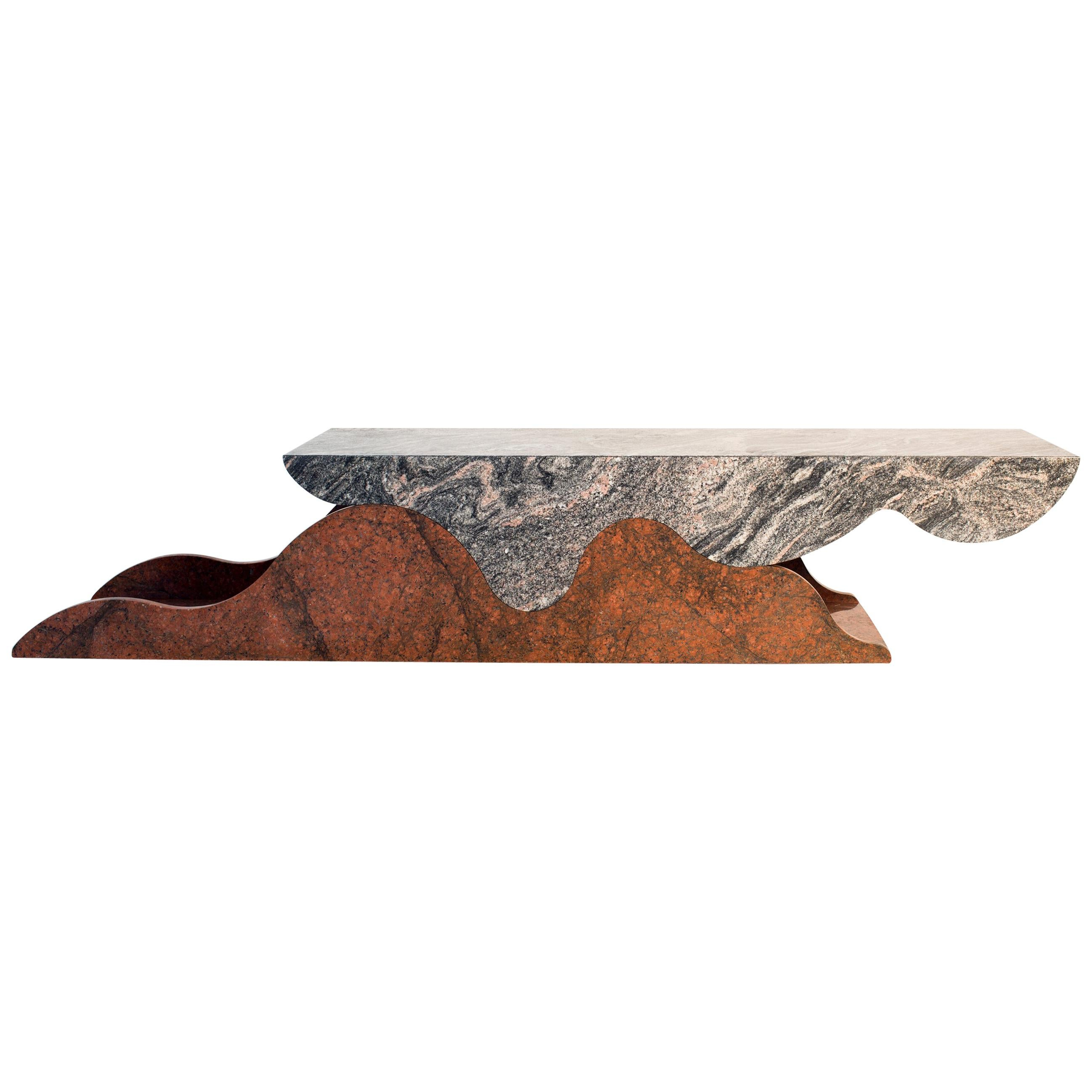 Contemporary Granite Cantilevered Coffee or Console Table