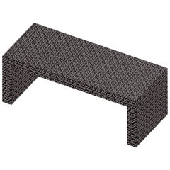Contemporary Graphic Bench/Coffee Table Gaby California Black by Chapel Petrassi