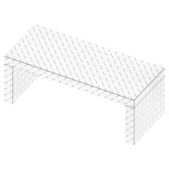 Contemporary Graphic Bench/Coffee Table Gaby Logo Chapel by Chapel Petrassi