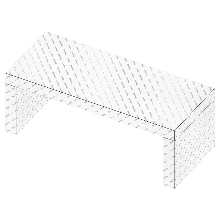 Contemporary Graphic Bench/Coffee Table Gaby Logo Chapel by Chapel Petrassi For Sale