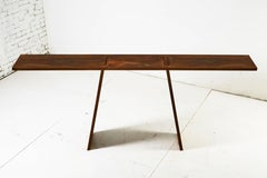 Contemporary Gravity Console in Weathered and Waxed Steel Plate