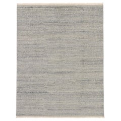 Contemporary Gray Moroccan Style Rug with Minimalist Design