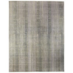 Contemporary Gray Perspective Hand Knotted Wool Rug