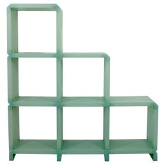 Contemporary Green Acrylic Modular Shelving Unit Bookcase Étagère Italian