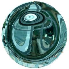 Contemporary Green Curve Mirror, Italy