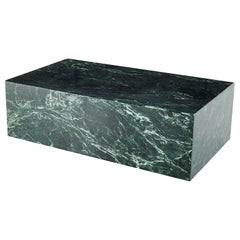 Contemporary Green Marble Rectangular Coffee Table