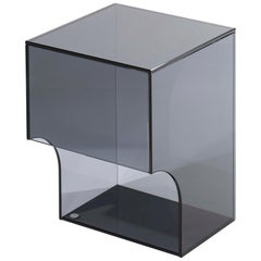 Contemporary Grey Glass Side Table, Arch 01.2 by Barh