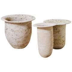 Contemporary Hand-Built Ceramic Tulip Planters