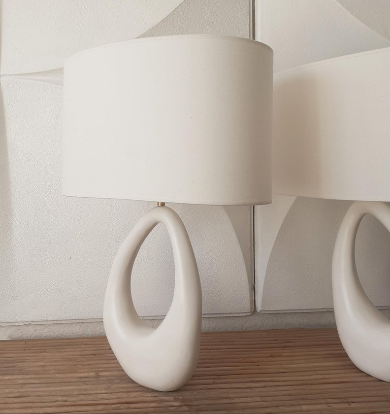Contemporary Hand-Built French Ceramic Lamp 1