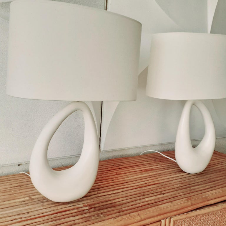 Contemporary Hand-Built French Ceramic Lamp 2