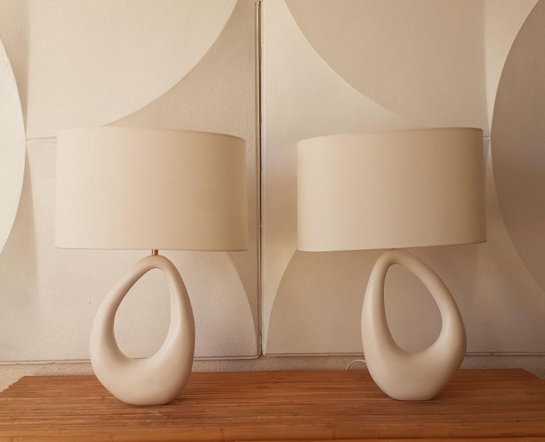 Contemporary Hand-Built French Ceramic Lamp 3