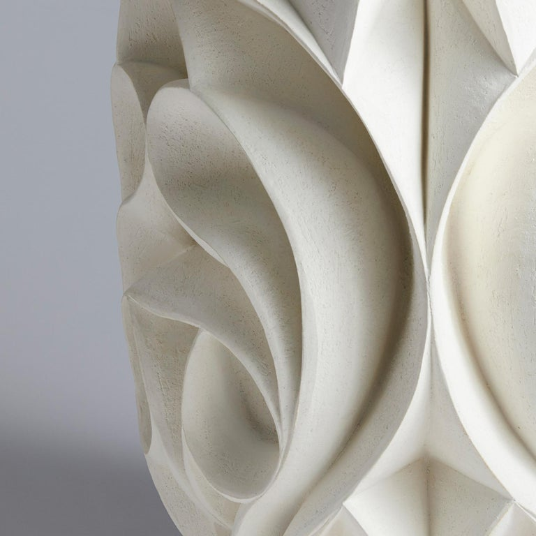Hand-Carved Contemporary Hand Carved Ceramic Sculpture by Halima Cassell For Sale