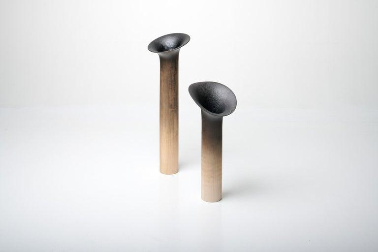 Scandinavian Modern Contemporary Hand Carved Sisin Vase No. 2 in Linden Wood by Antrei Hartikainen For Sale