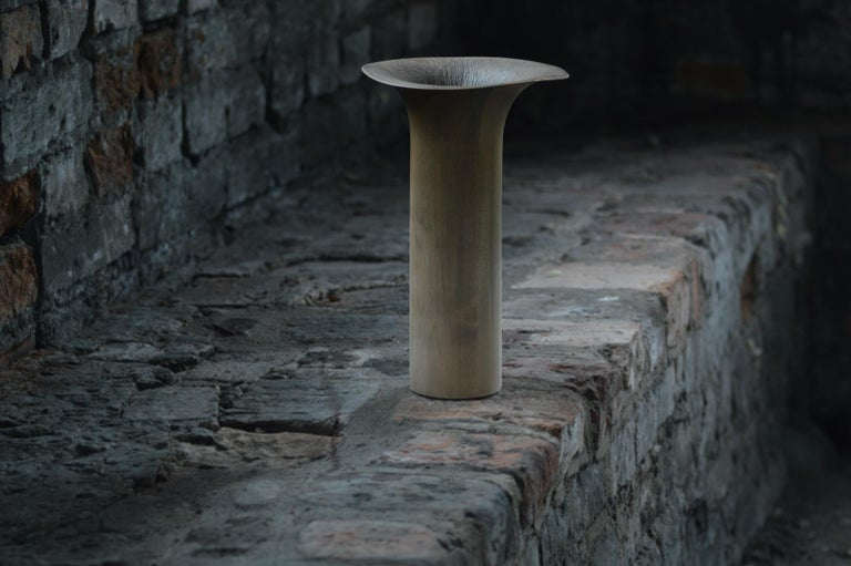 Contemporary Hand Carved Sisin Vase No. 4 in Linden Wood by Antrei Hartikainen In New Condition For Sale In Fiskars, FI
