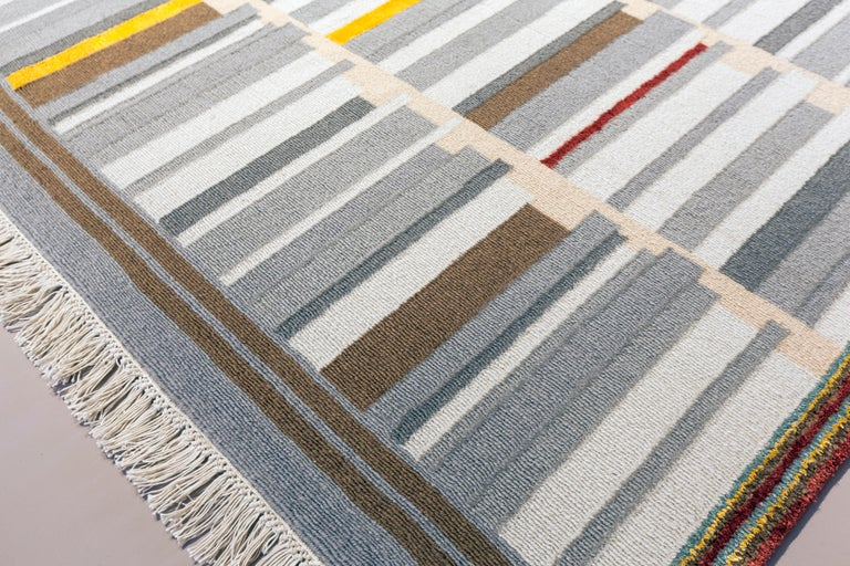 Contemporary Hand Knotted Limited Edition Rug by Architect, B Gomez Pimienta In New Condition For Sale In Mexico City, MX