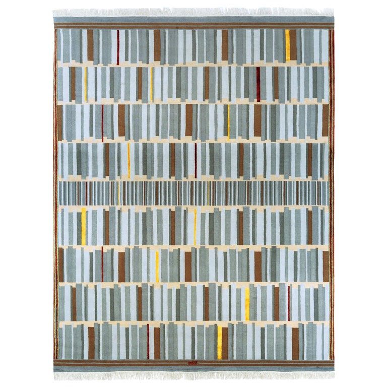 Contemporary Hand Knotted Limited Edition Rug by Architect, B Gomez Pimienta For Sale