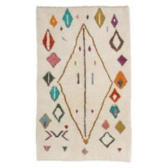 Contemporary Hand Knotted Moroccan Wool Rug