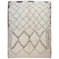 Contemporary Hand-Knotted Moroccan Wool Rug. Custom Options Available