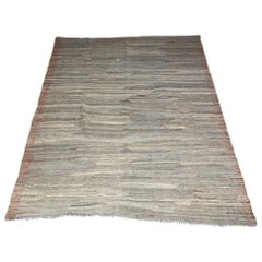 Contemporary Hand-woven Kilim Geijs Reversible Rug from Pakistan