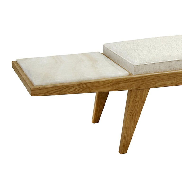 Modern Contemporary Handcrafted Bench