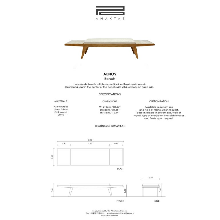 Greek Contemporary Handcrafted Bench