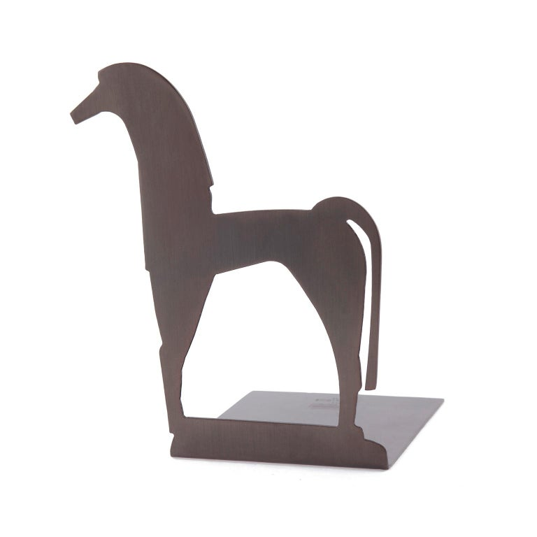 Contemporary, handcrafted bookend, model