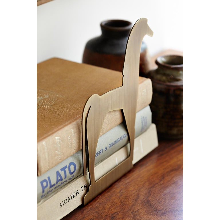 Modern Contemporary Handcrafted Brass Bookend