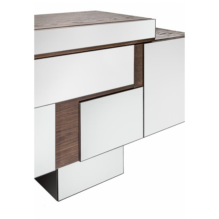 Contemporary handcrafted asymmetrical, buffet model
