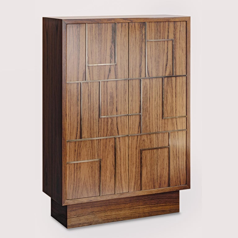 Contemporary handcrafted chest or storage cabinet, model