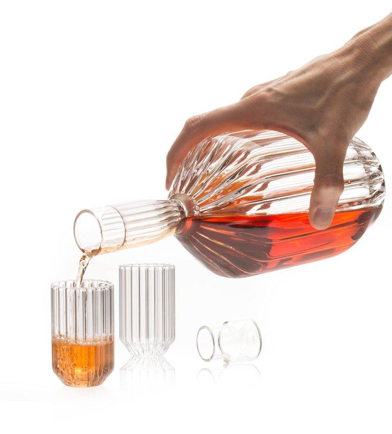 Hand-Crafted EU Clients Contemporary Handcrafted Czech Clear Glass Margot Decanter, in Stock For Sale