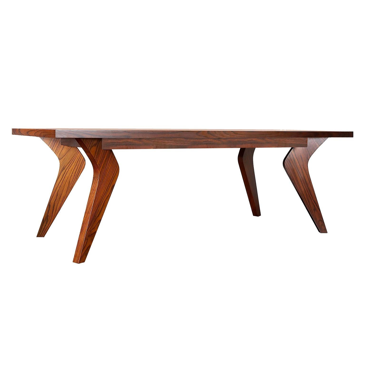 """Contemporary Handcrafted Dining Table """"Minoa"""" in Palisander Wood by Anaktae"""