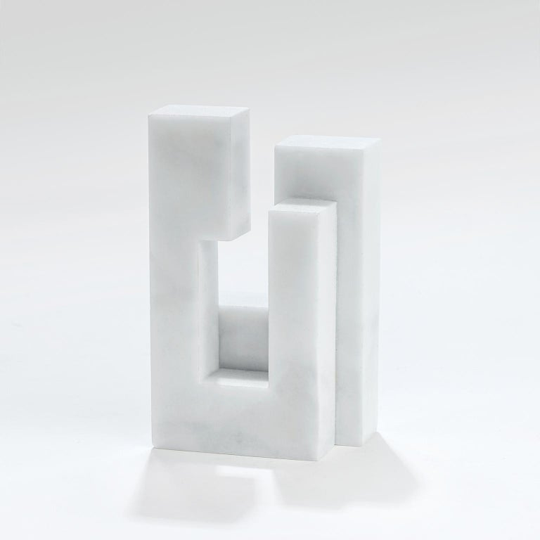 Contemporary handcrafted geometric bookend