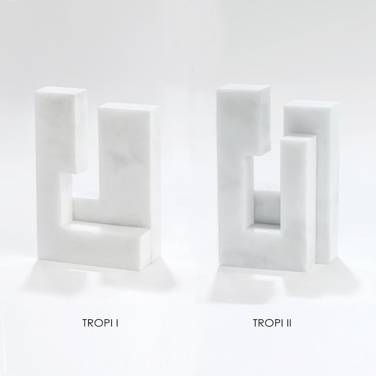 Modern Contemporary Handcrafted Geometric Bookend