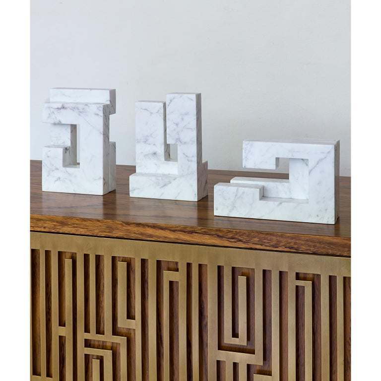 Greek Contemporary Handcrafted Geometric Bookend