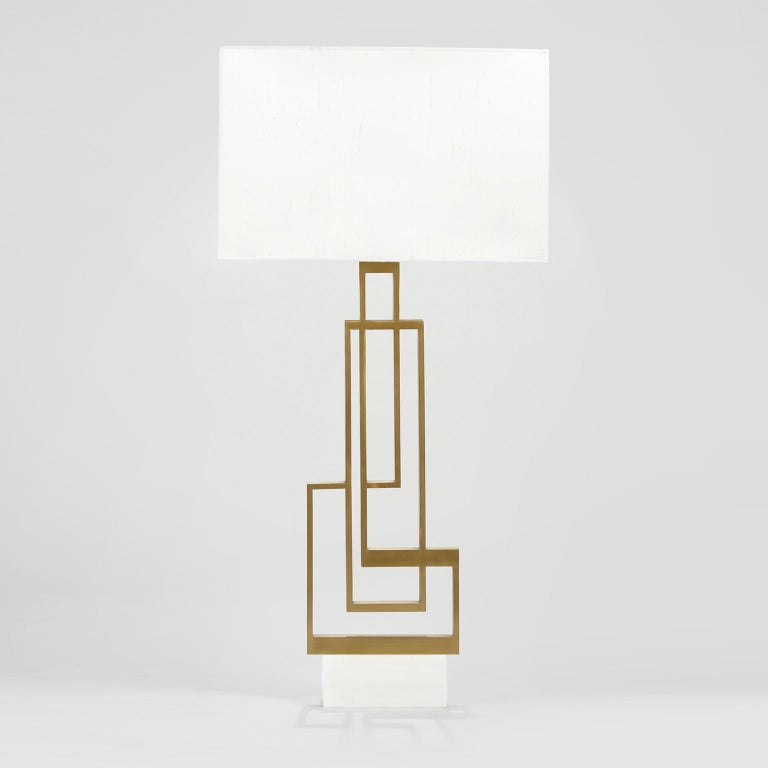 Contemporary, handcrafted table lamp model