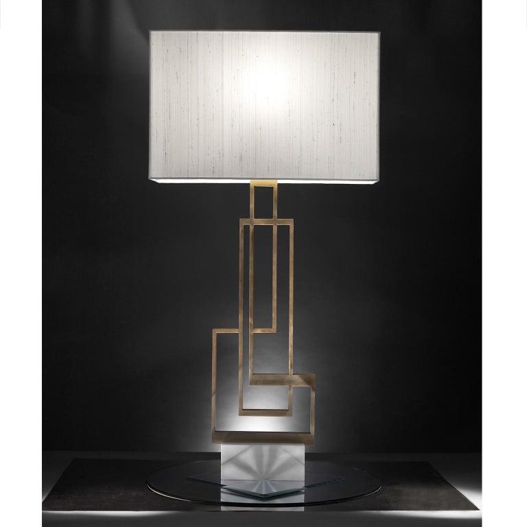 Contemporary Handmade Geometric Table Lamp