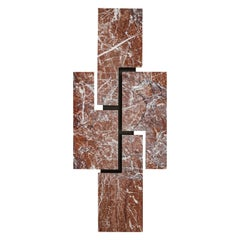"Contemporary Handcrafted Geometric Wall Lamp ""Ego"" in Marble"
