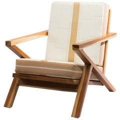 Contemporary Handcrafted Kukuru Funfun 'White Dove' Armchair