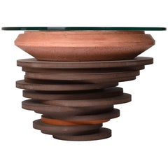 Contemporary Handcrafted Round 'Asanka Coffee Table', Side Table, Custom
