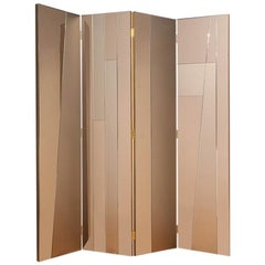 Contemporary Handcrafted Screen in Geometric Mirrored Surfaces, 1stdibs New York