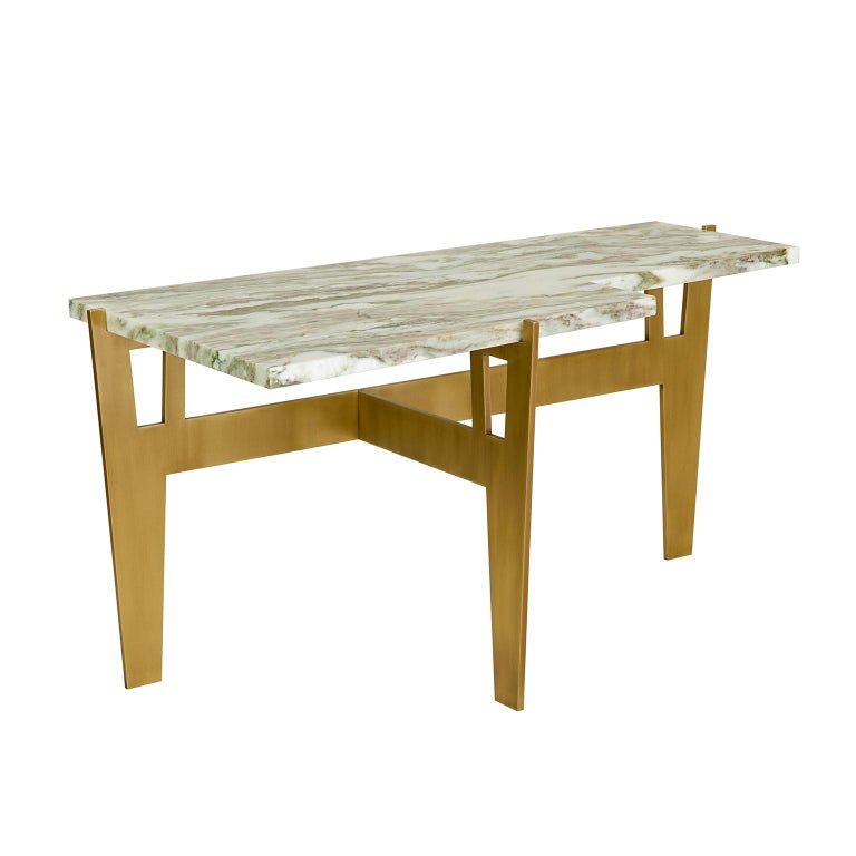 Contemporary, handcrafted side table, model