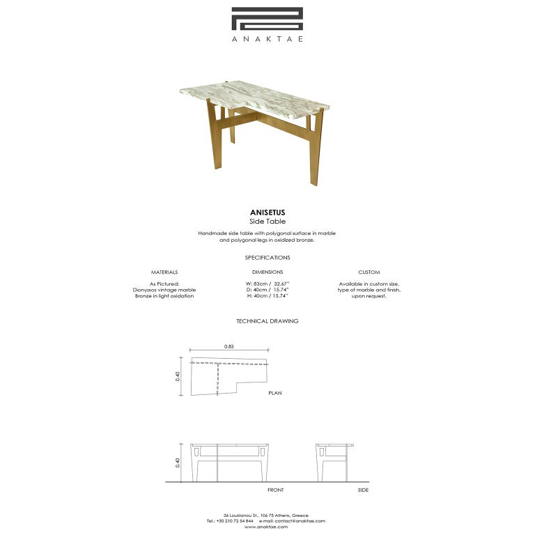 Contemporary Handmade Side Table