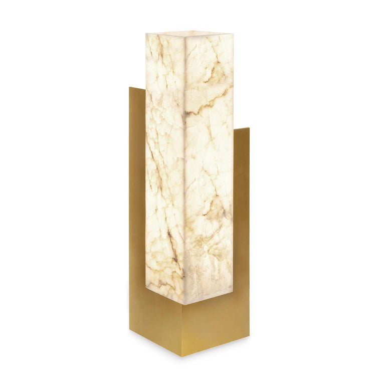 Contemporary, handcrafted table lamp, model