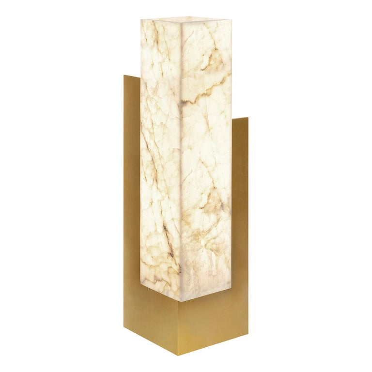 """Contemporary Handcrafted Table Lamp """"Keryx"""" in Brass - Marble, 1stdibs New York For Sale"""
